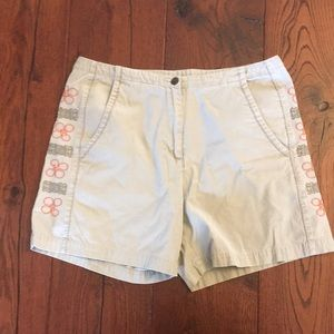 Embroidered woolrich shorts
